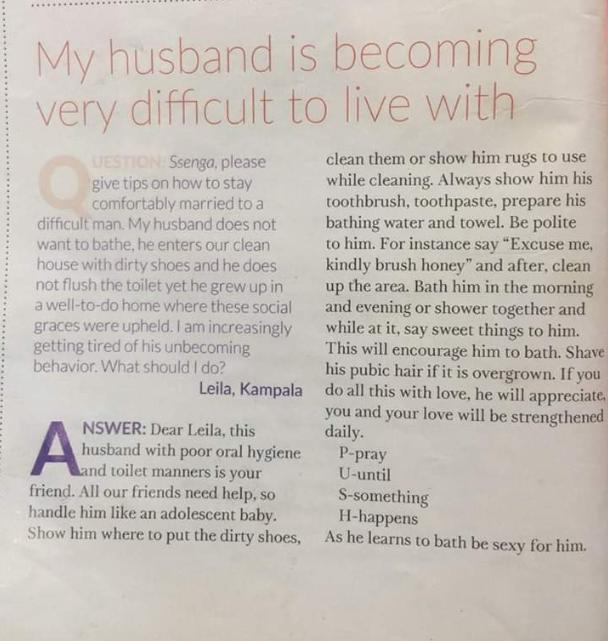reponse a une femme marier